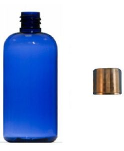 100ml blue plastic bottle with black cap