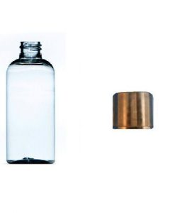 100ml plastic bottle clear with black cap