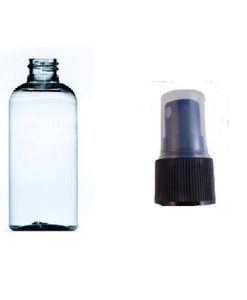 100ml plastic bottle clear with black atomiser