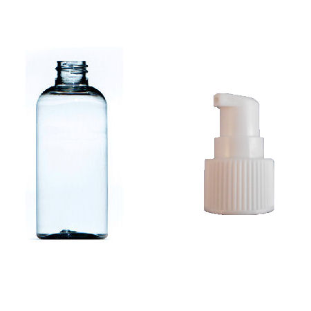 100ml plastic bottle clear with white pump