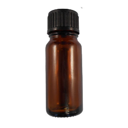 10ml Glass Amber Bottle with Black Dropper Cap