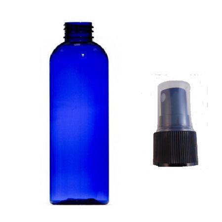 125ml blue plastic bottle with black atomiser