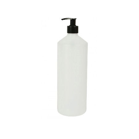 250ml natural plastic bottle with black pump