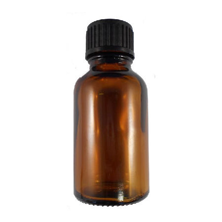 25ml kingston glass amber bottle black cap with dropper