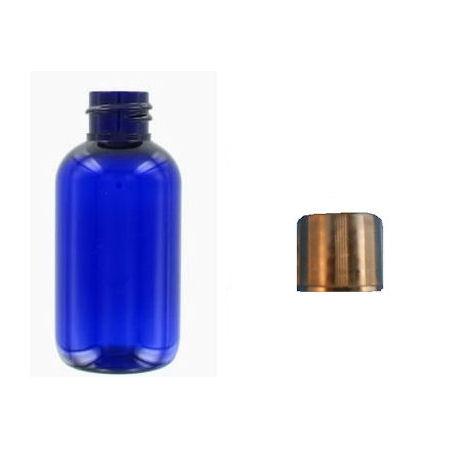 30ml blue plastic bottle with black cap
