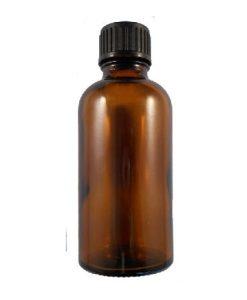 50ml kingston glass amber bottle black cap with dropper