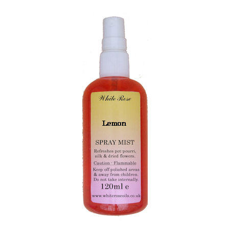 Lemon essential fragrance room spray