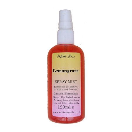 Lemongrass essential fragrance room spray